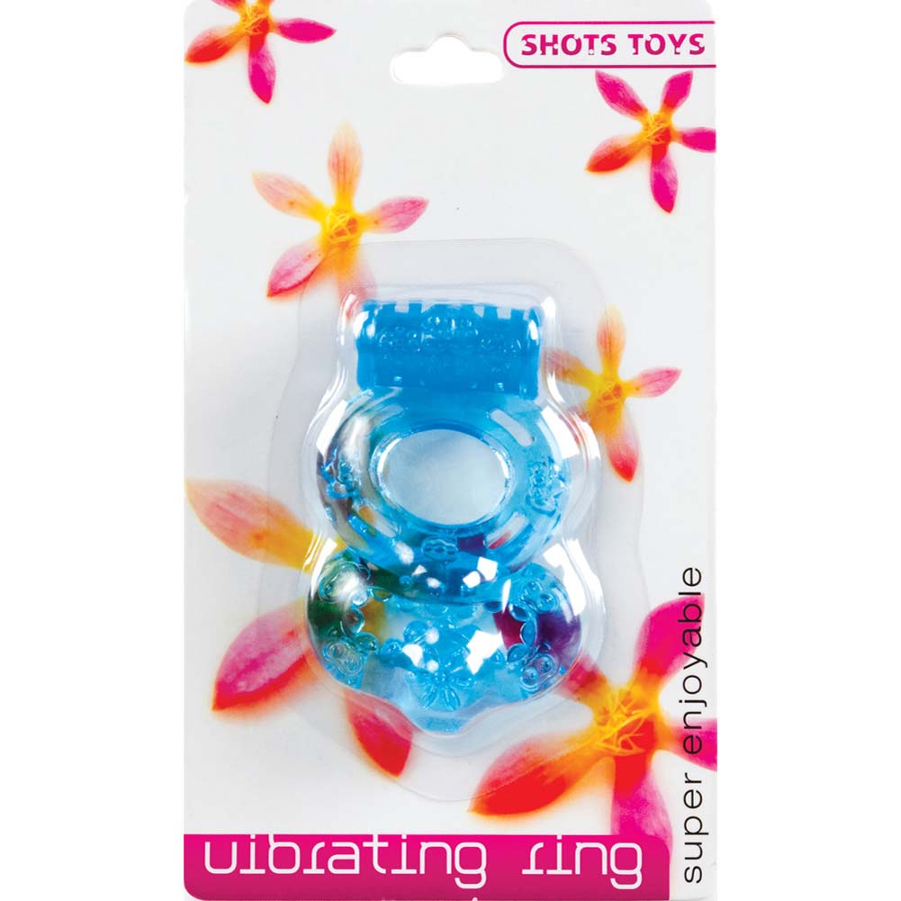 Shots Toys Super Enjoyable Vibrating Ring Blue - View #1