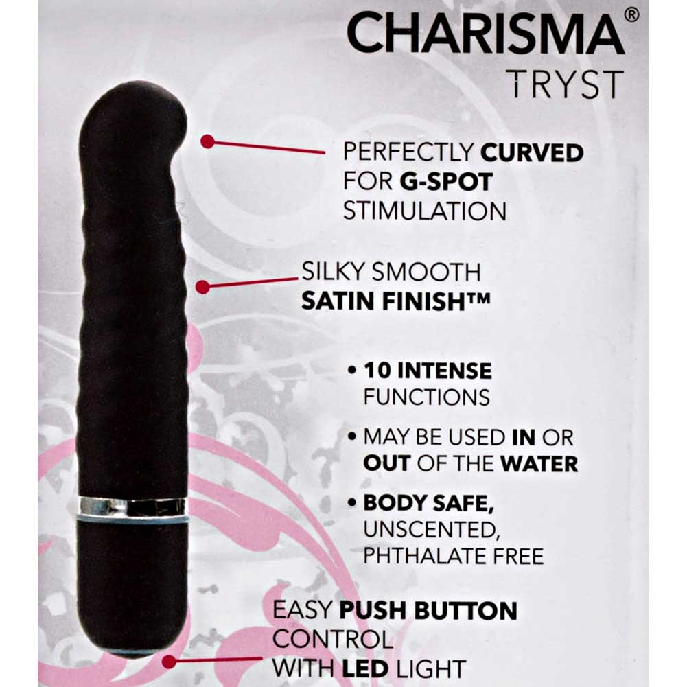 "California Exotics 10 Function Charisma Tryst G-Spot Vibrator 4.5"" Black - View #1"