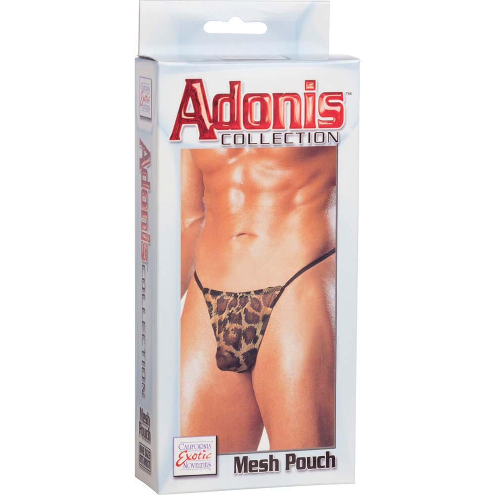 Adonis Collection Mesh Pouch for Men One Size Leopard - View #3