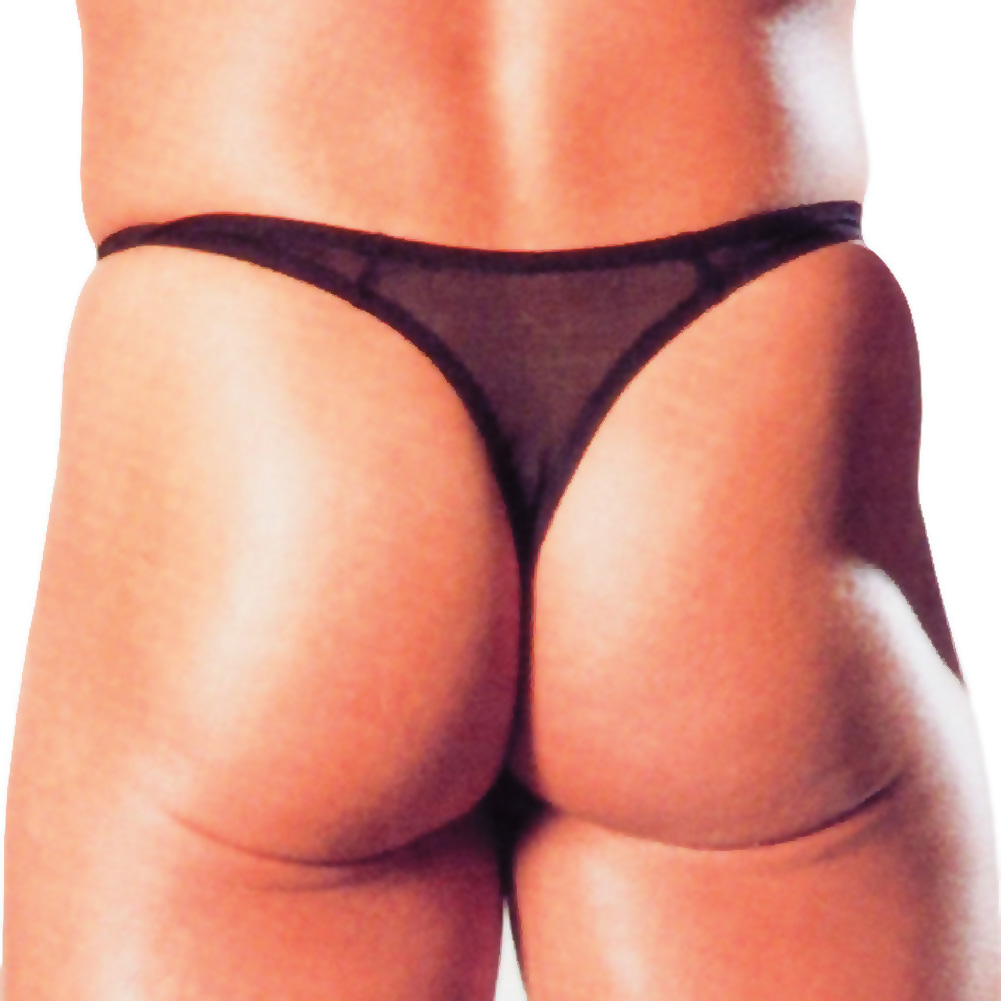 California Exotics Adonis Mesh Thong Black - View #2