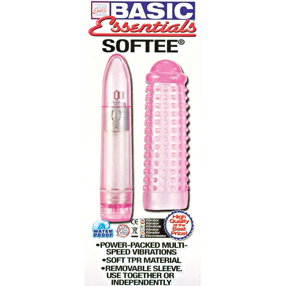 "Basic Essentials Softee Vibrator 5.5"" Pink - View #1"