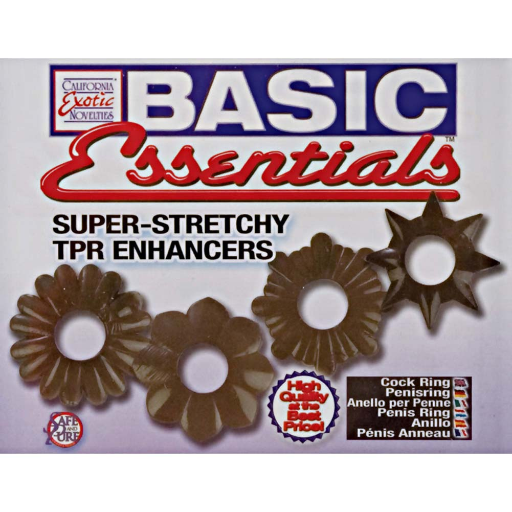 Basic Essentials Super Stretchy TPR Enhancers Smoke - View #1
