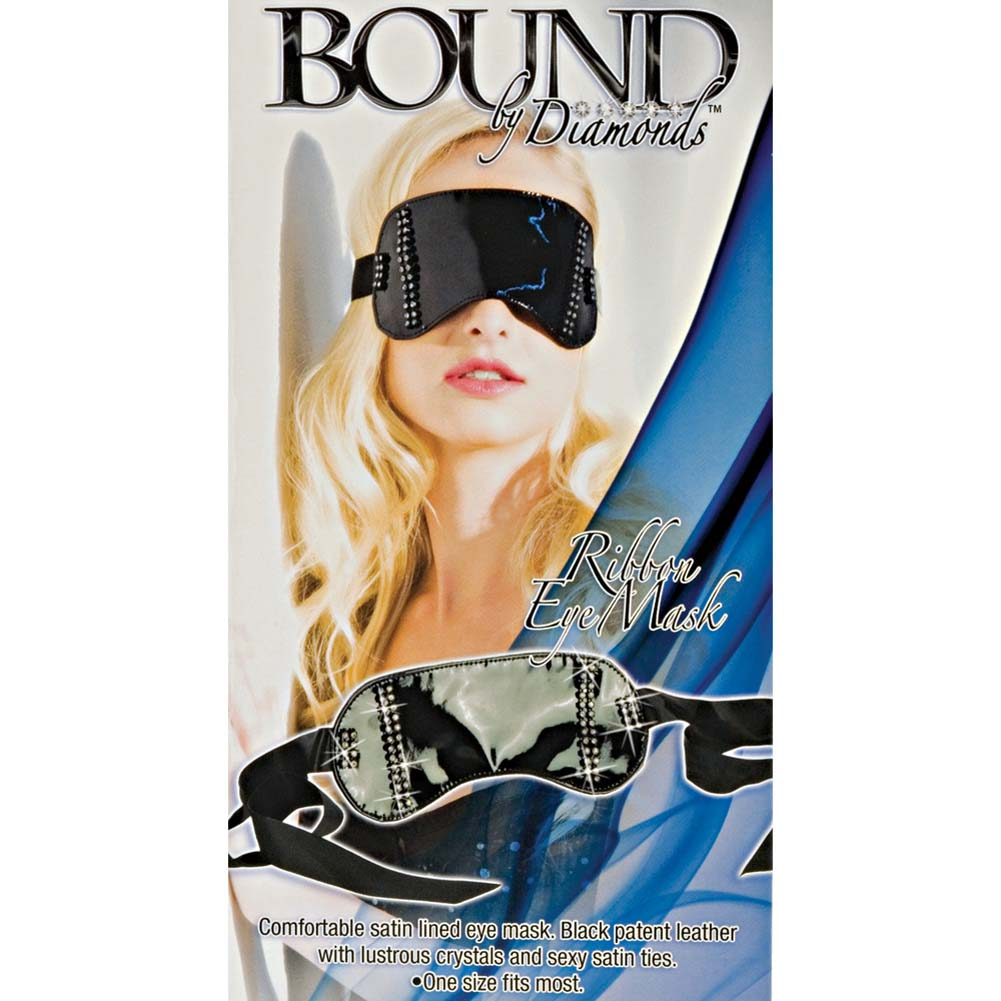 California Exotics Bound by Diamonds Ribbon Eye Mask Black - View #1