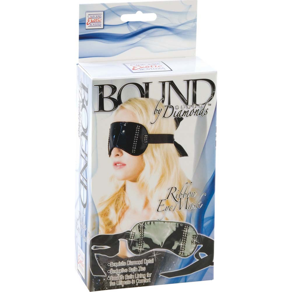California Exotics Bound by Diamonds Ribbon Eye Mask Black - View #3
