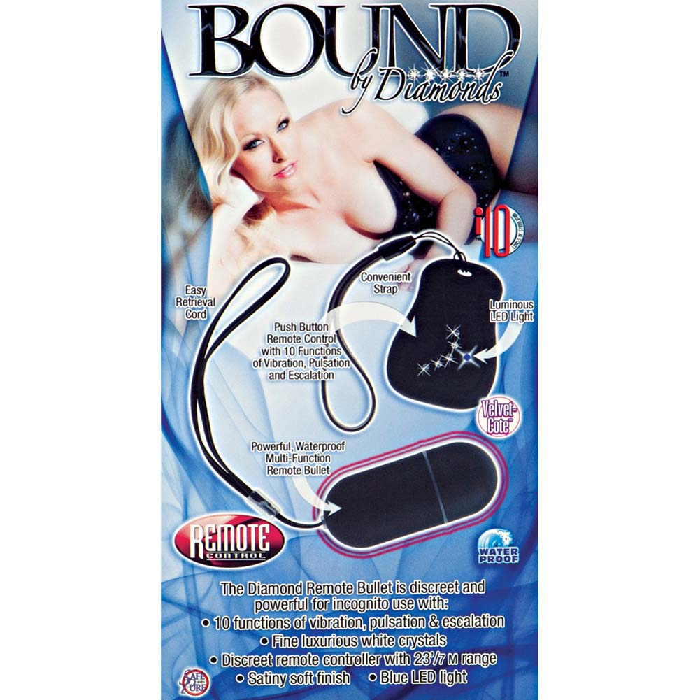 Bound By Diamonds Diamond Remote Control Bullet Black - View #1