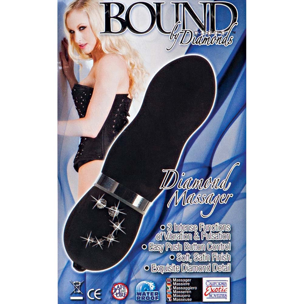 Bound By Diamonds Vibrating Diamond Massager Black - View #1