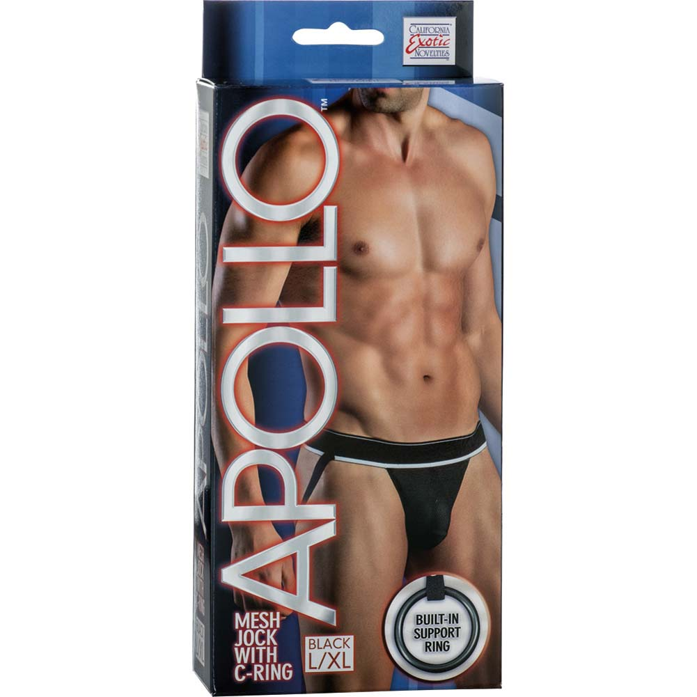 California Exotics Apollo Mesh Jock with C-Ring Black Large/Extra Large.Size - View #1