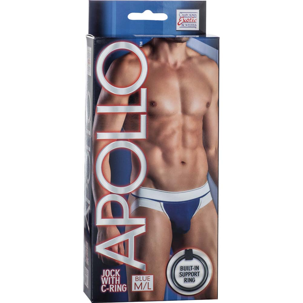 California Exotics Apollo Jock with C-Ring Blue Medium/Large Size - View #1