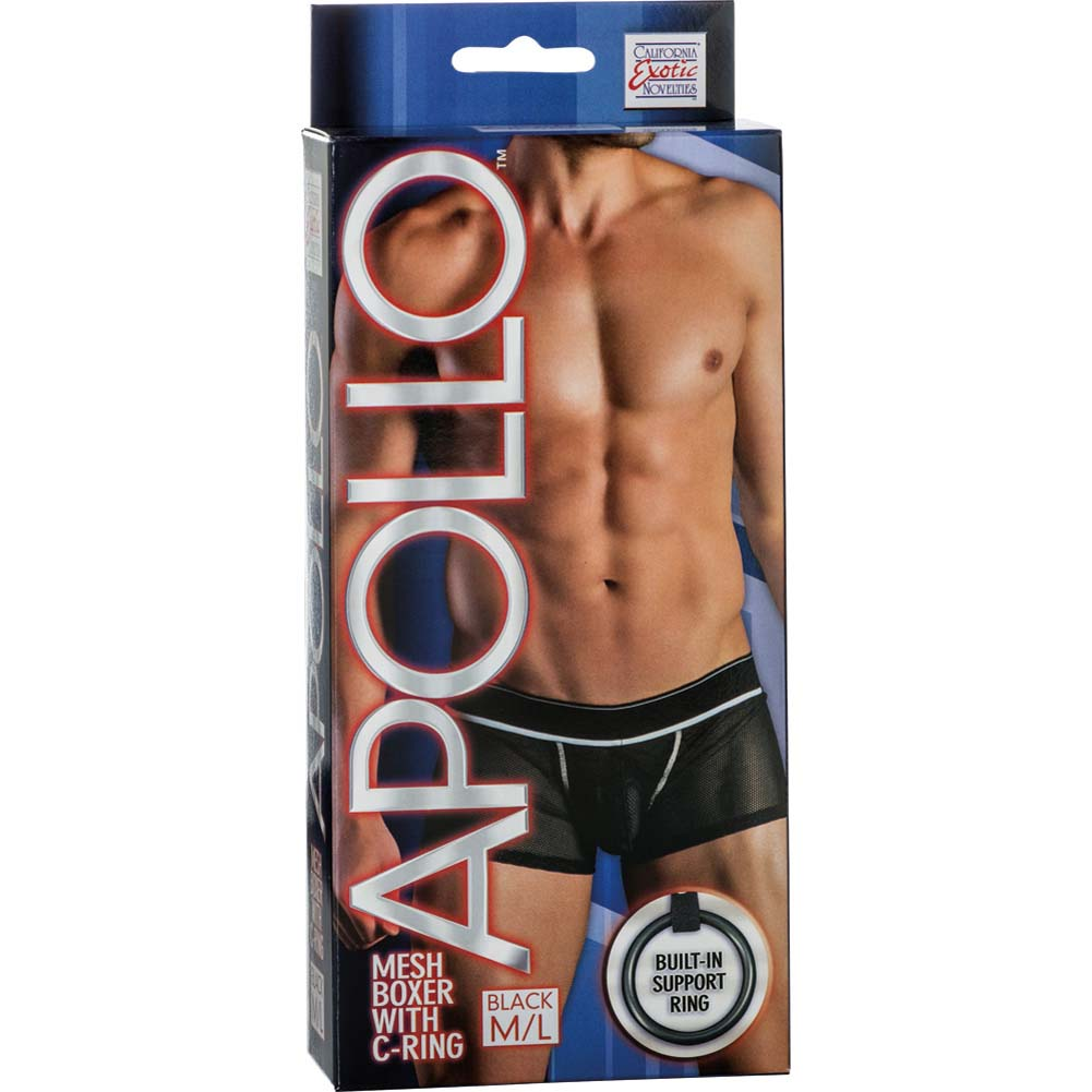Apollo Mesh Boxer with C-Ring Black Medium/Large Size - View #1
