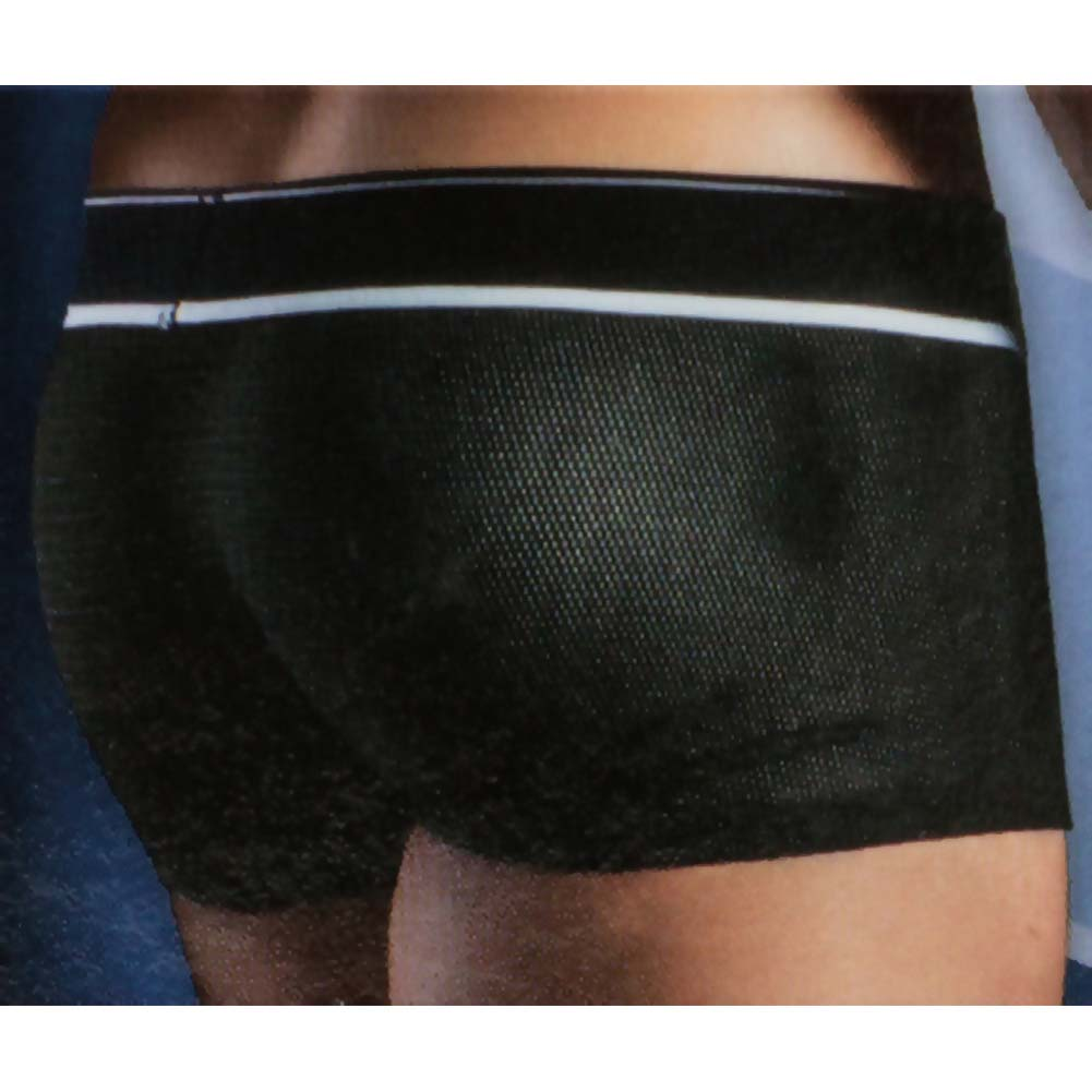 California Exotics Apollo Mesh Boxer with C-Ring Black Large/Extra Large Size - View #2