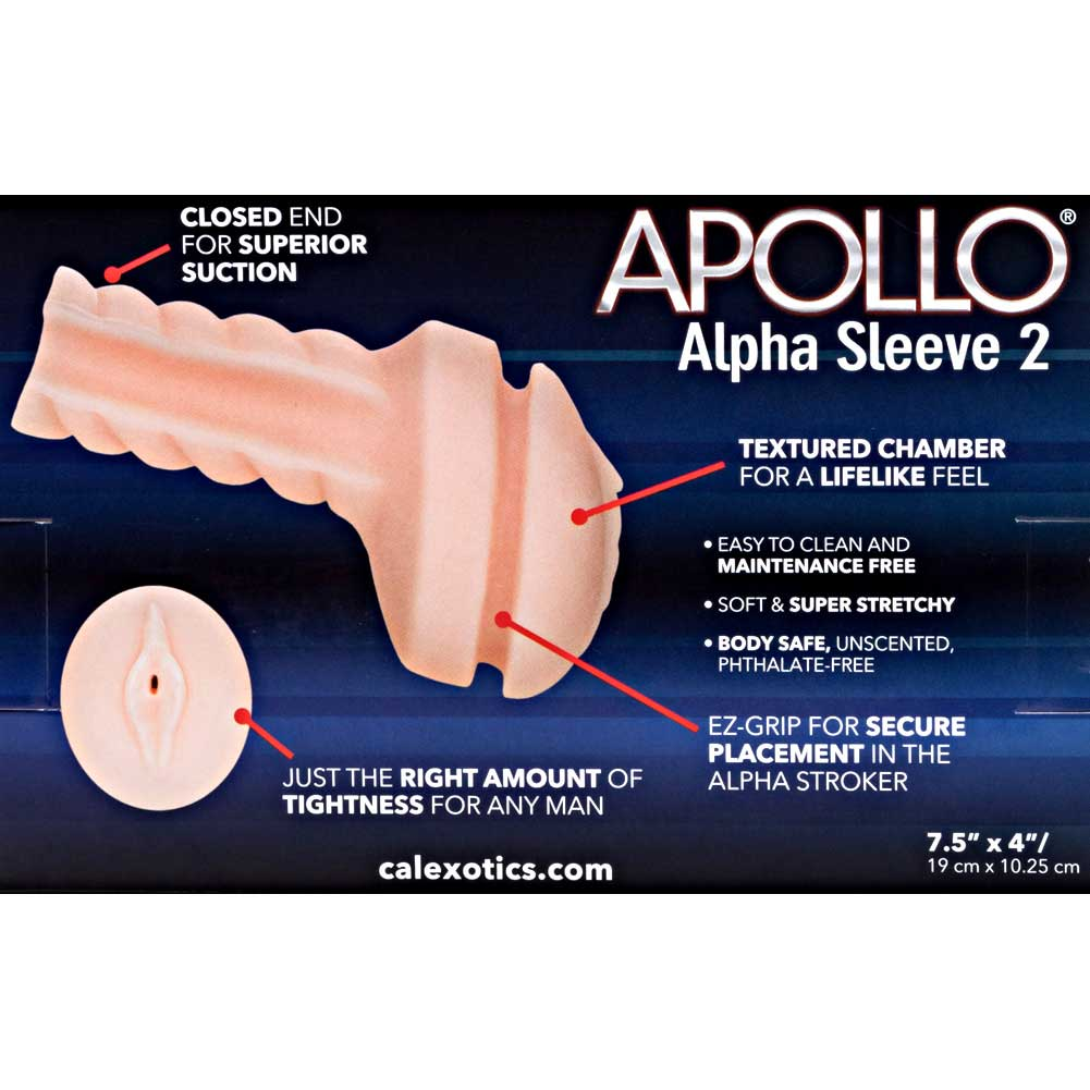 California Exotics Apollo Replacement Sleeve Alpha Sleeve 2 Vagina Masturbator - View #1