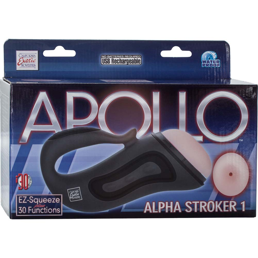 California Exotics Apollo Alpha Stroker Alpha Stroker 1 Grey Masturbator - View #4