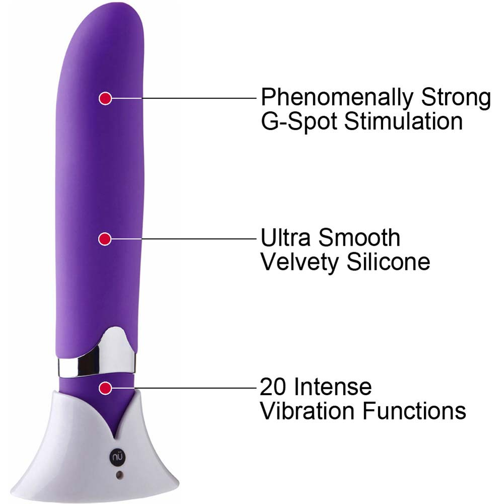 "Nu Sensuelle Curve 20 Function USB Rechargeable G-Spot Vibrator 5.5"" Purple - View #1"