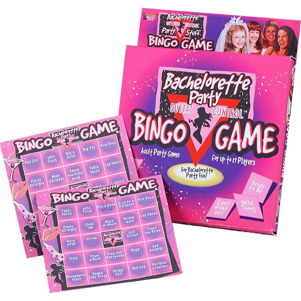 Bachelorette Party Outta Control Party Bingo Game - View #1