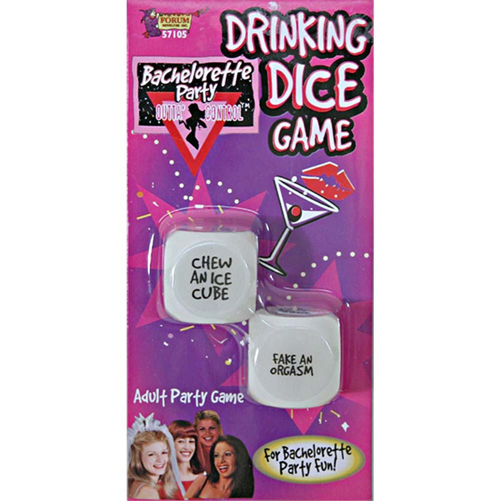 Bachelorette Party Outta Control Drinking Dice Game - View #1