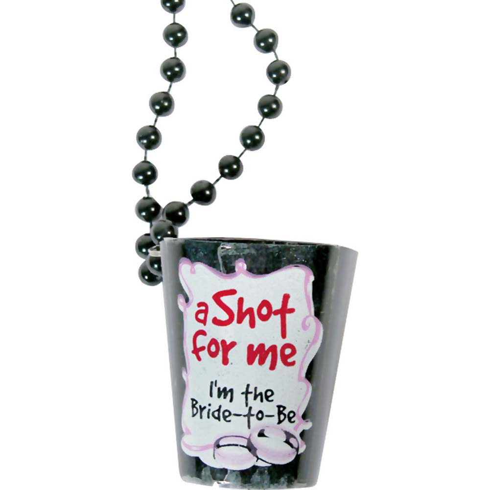 Bachelorette Shot Glass Necklace Black - View #1