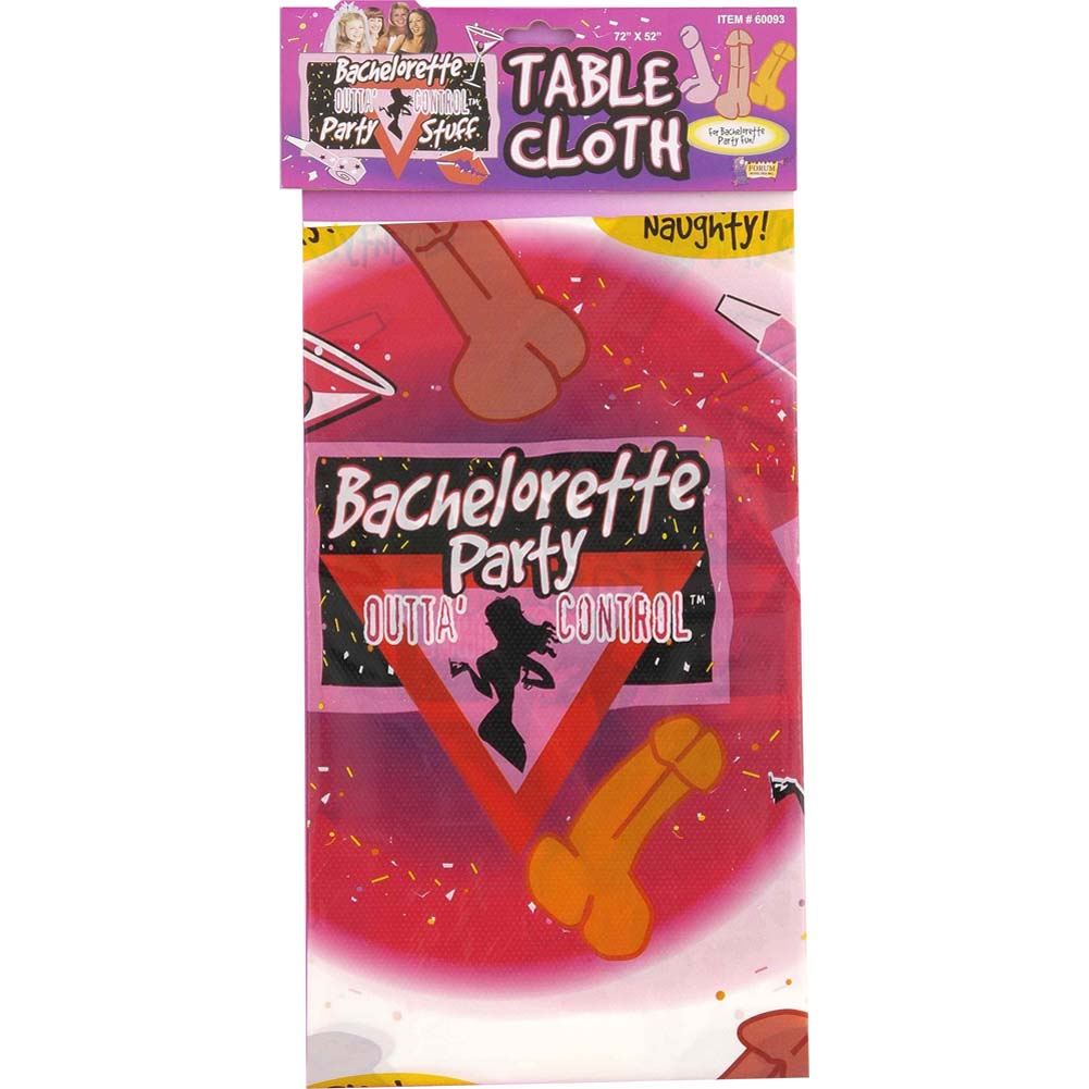 Bachelorette Party Tablecloth 52in.X72in. - View #1