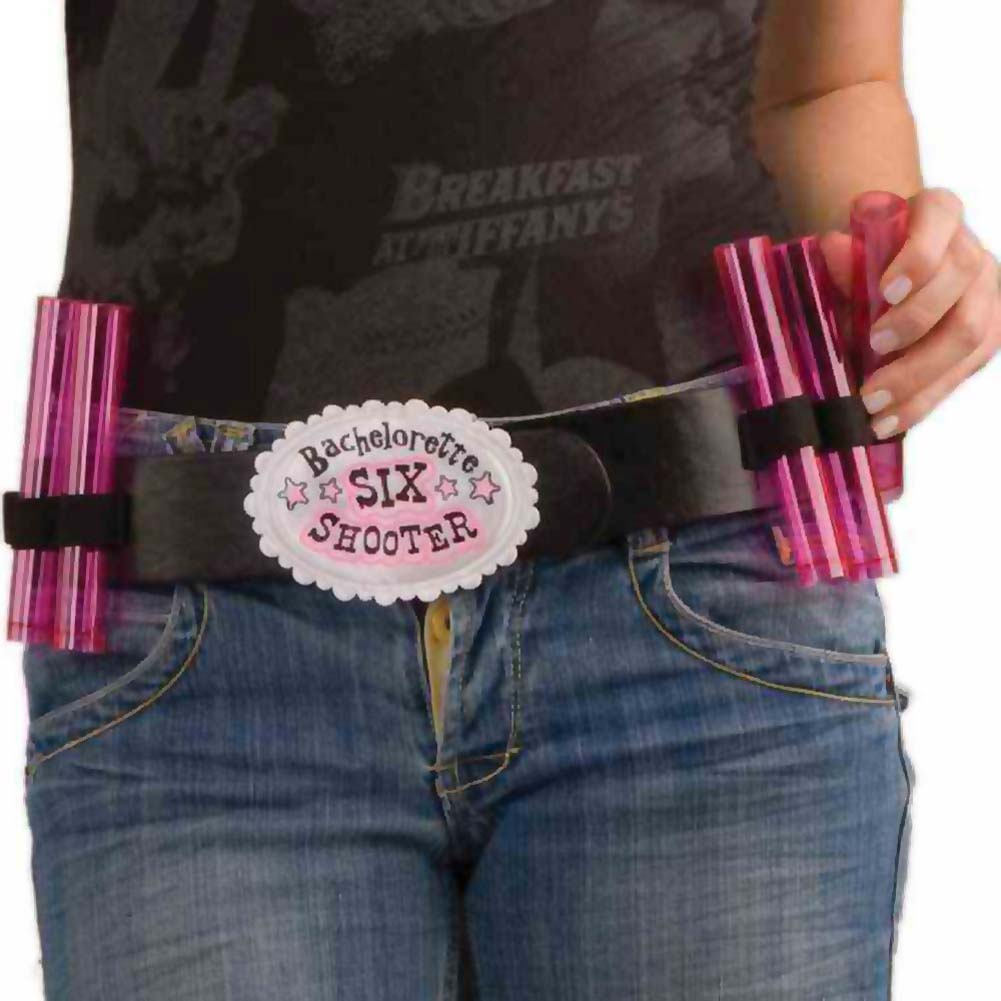 Bachelorette Party Shot Belt with 6 Shot Glasses - View #1