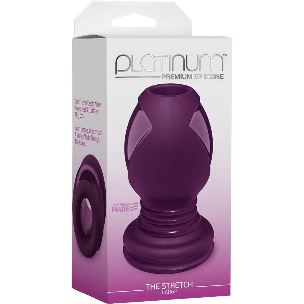 "Platinum Premium Silicone Stretch Large Butt Plug 4.5"" Purple - View #1"
