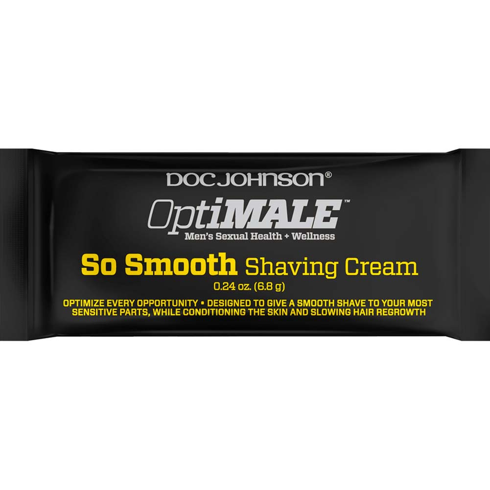 OptiMALE So Smooth Shaving Cream 0.24 Oz. Pouch - View #1