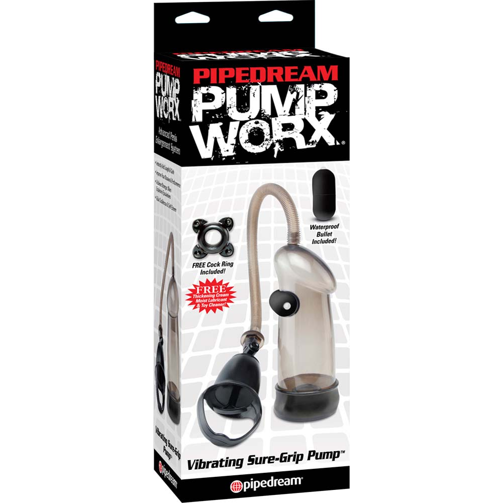Pump Worx Vibrating Sure-Grip Vibrating Pump Black - View #1