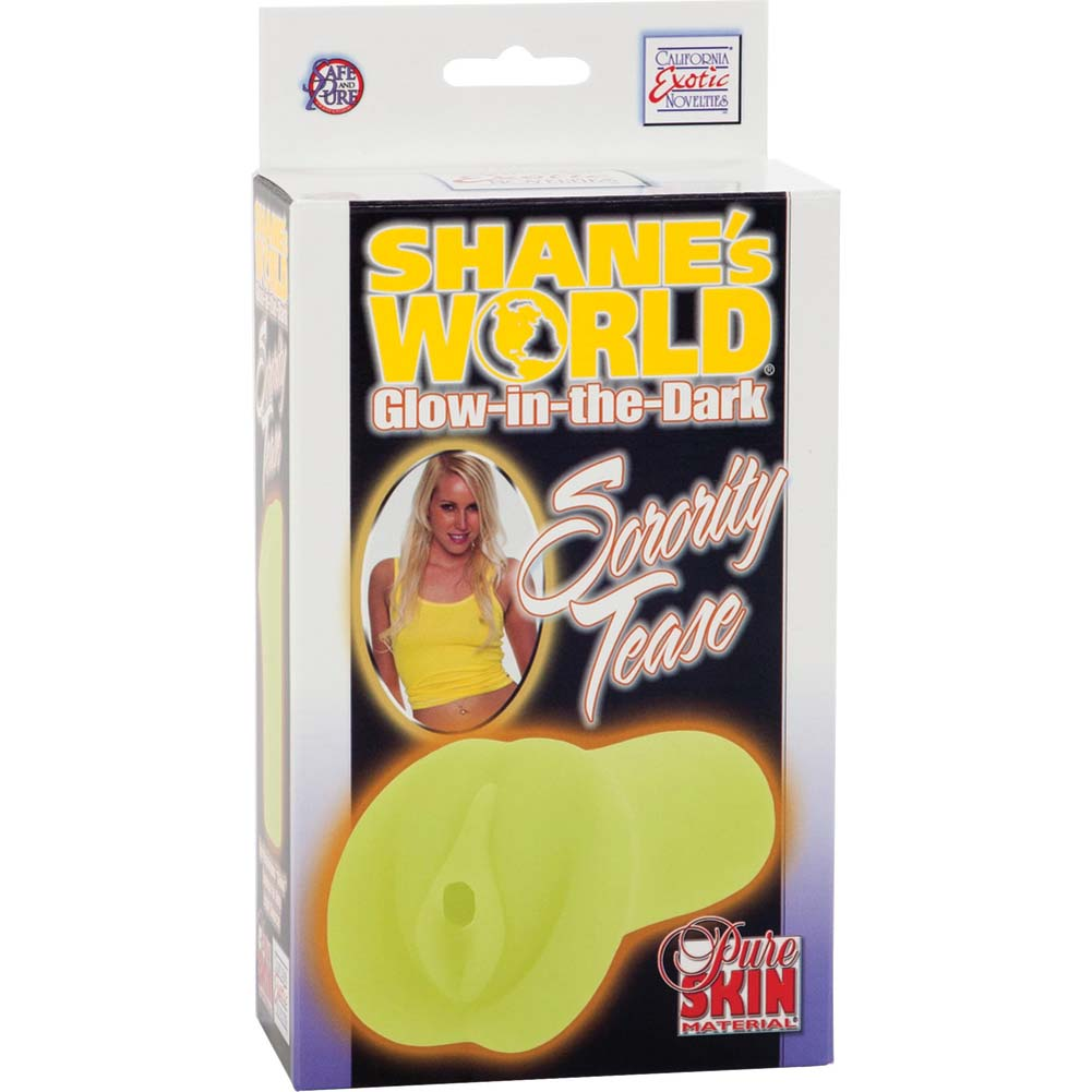 ShaneS World Glow-In-The-Dark Sorority Teases Masturbator Yellow - View #1