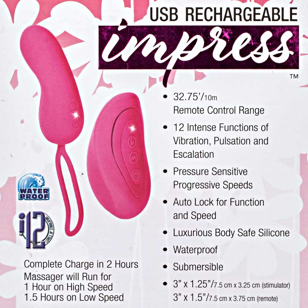 Impress USB Rechargeable Remote Teaser Pink - View #1