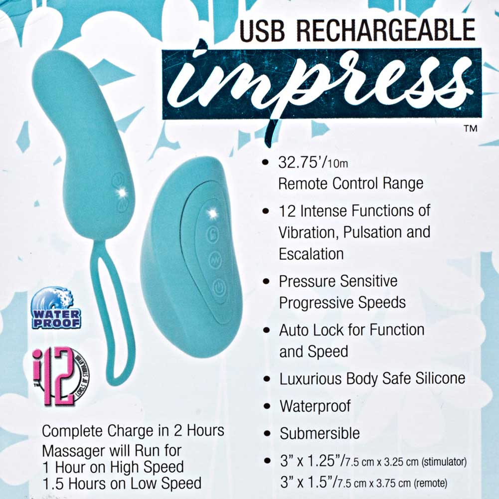 California Exotics Impress USB Rechargeable Remote Teaser Blue - View #1