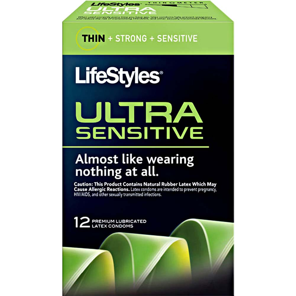 LifeStyles Ultra Sensitive Lubricated Condoms 12 Pack - View #1