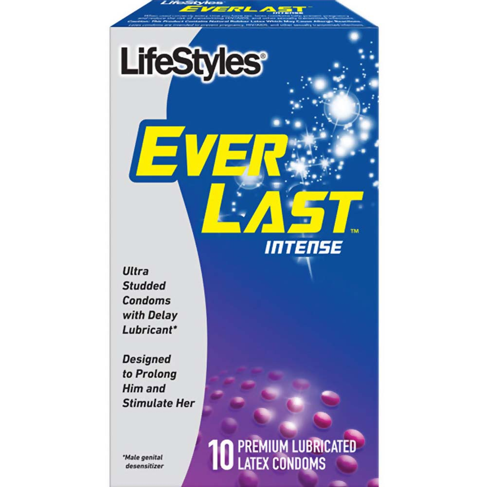 LifeStyles Ever Last Intense Lubricated Condoms 10 Pack - View #1