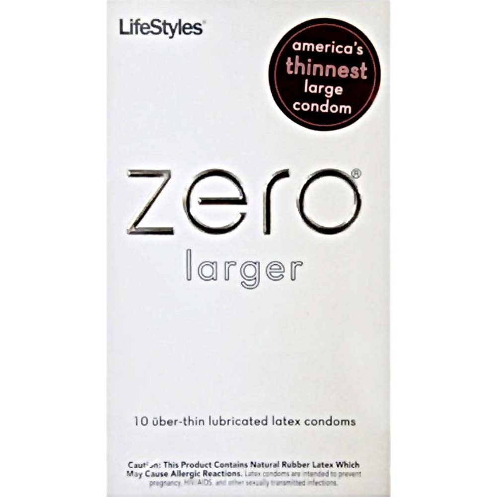 LifeStyles Zero Larger Thin Lubricated Condoms 10 Pack - View #1
