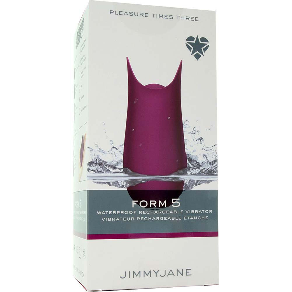 "Jimmyjane Form 5 USB Rechargeable Vibrator 4"" Plum - View #1"