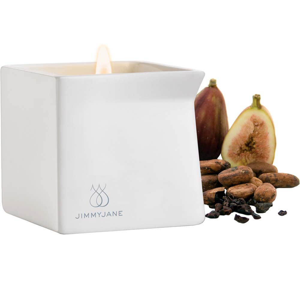 Jimmyjane Afterglow Special Edition Natural Massage Oil Candle Cocoa Fig - View #2