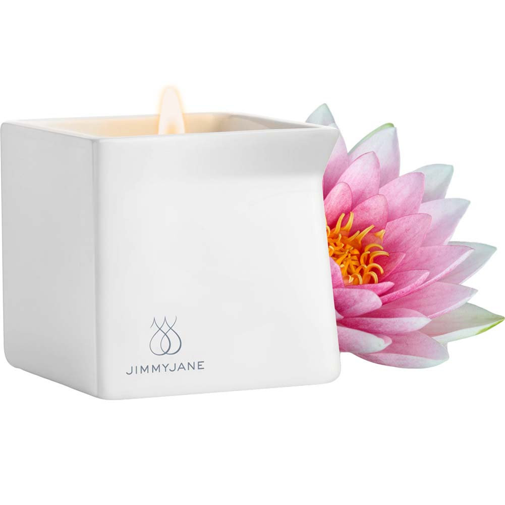 Jimmyjane Afterglow Natural Massage Oil Candle Pink Lotus - View #2