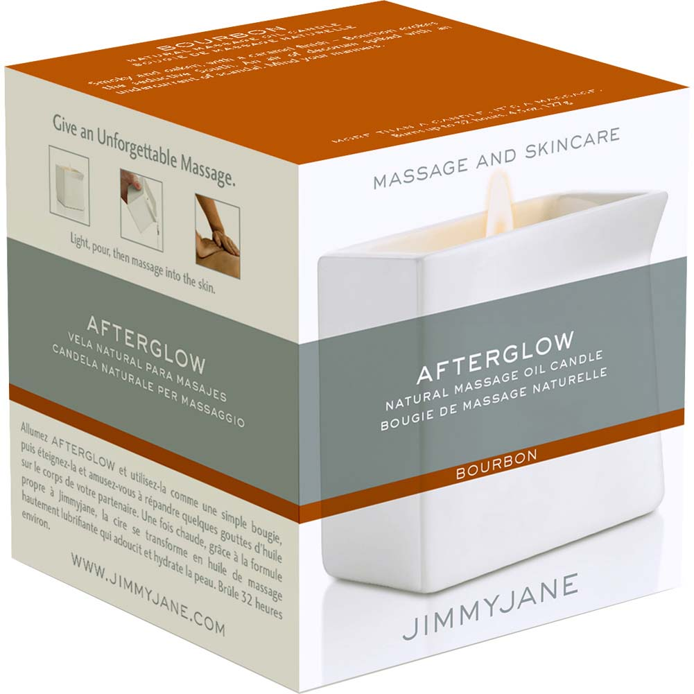 Jimmyjane Afterglow Natural Massage Oil Candle Bourbon - View #3
