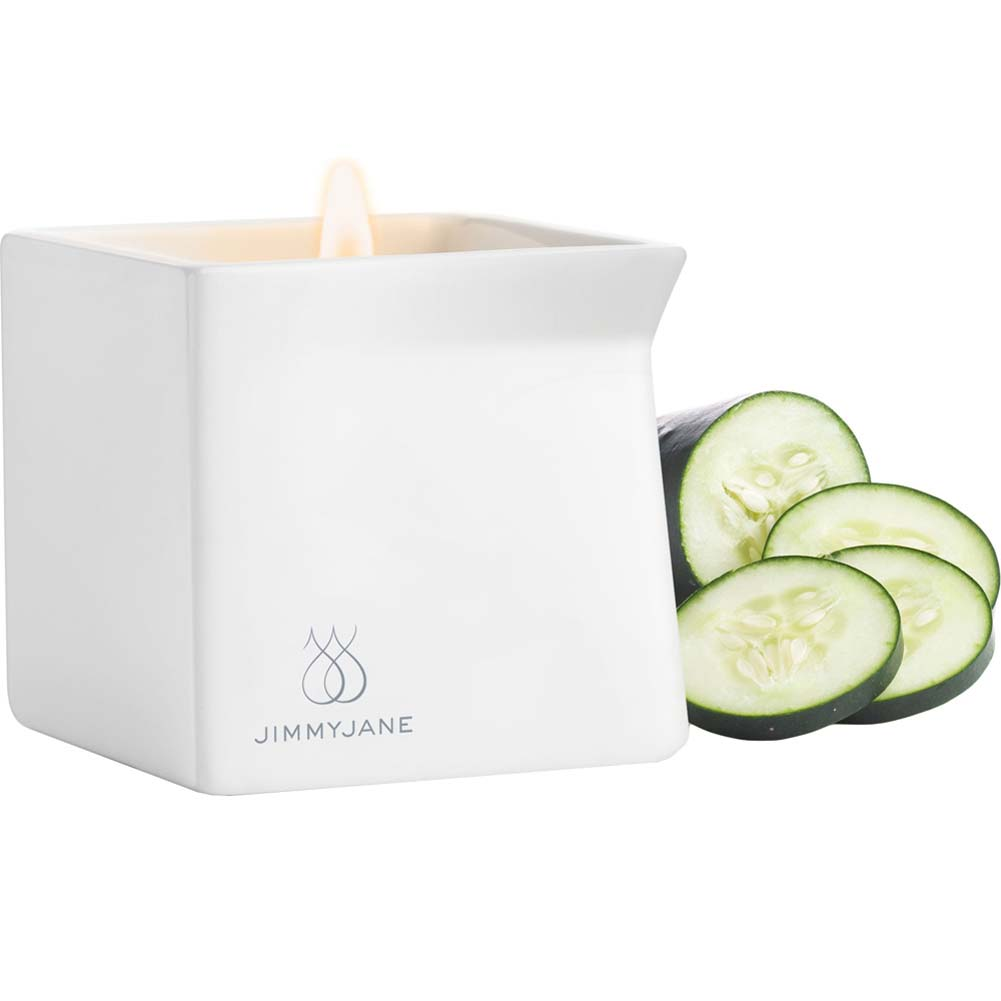 Jimmyjane Afterglow Natural Massage Oil Candle Cucumber Water - View #2