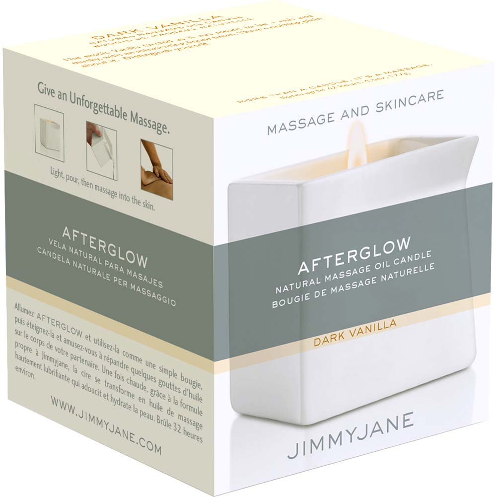 Jimmyjane Afterglow Natural Massage Oil Candle Dark Vanilla - View #3