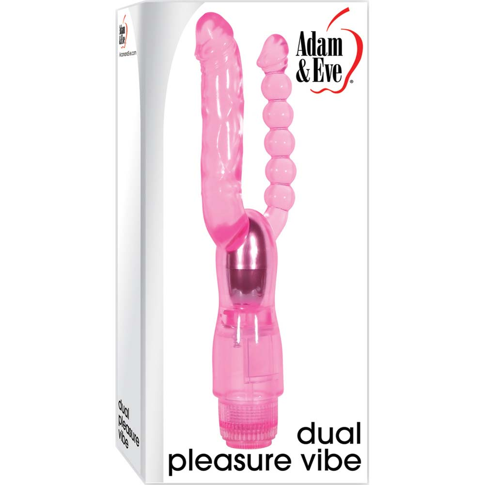 Adam and Eve Dual Pleasure Vibrator Pink - View #1