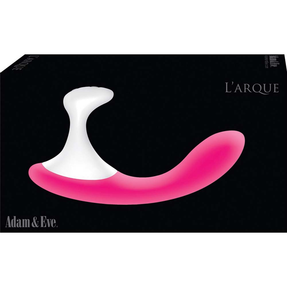 Adam and Eve LArque Rechargeable Silicone Vibrator Pink - View #3