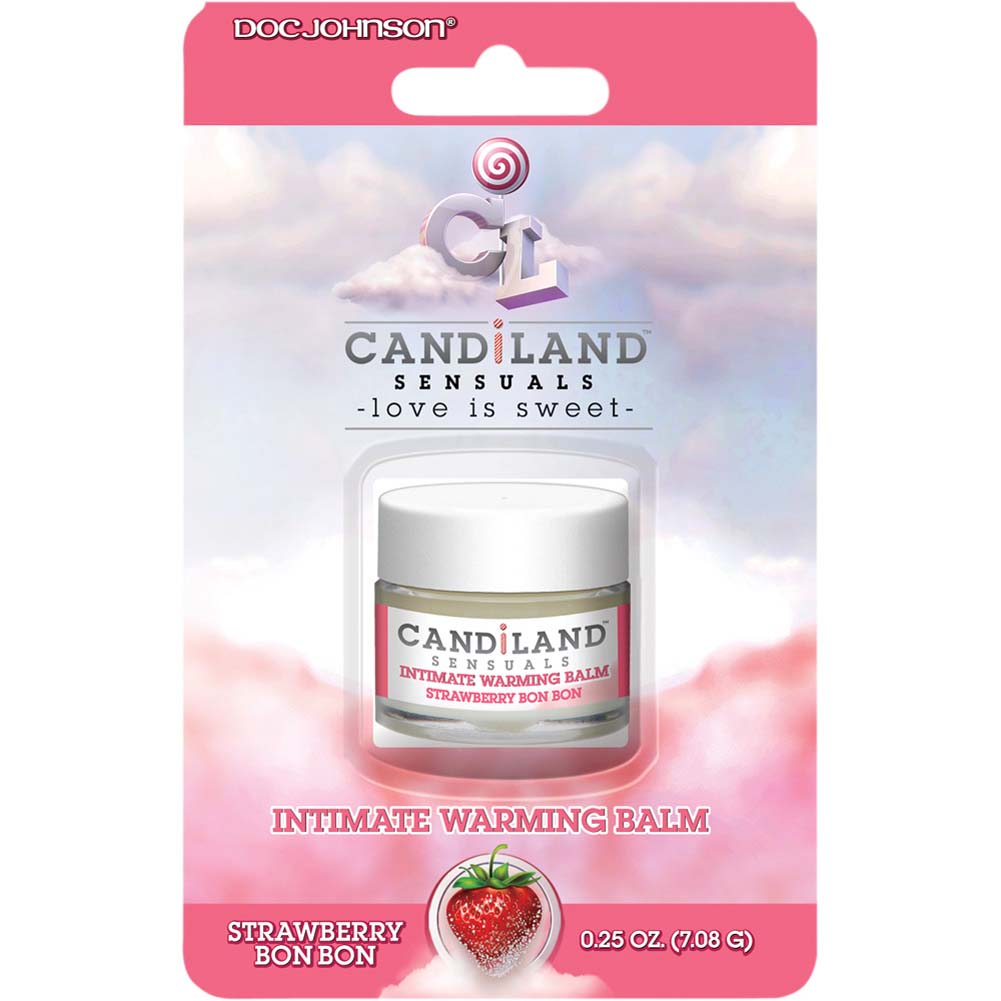 CANDiLAND SENSUALS Intimate Warming Balm Strawberry Bon Bon 0.25 Oz. - View #1