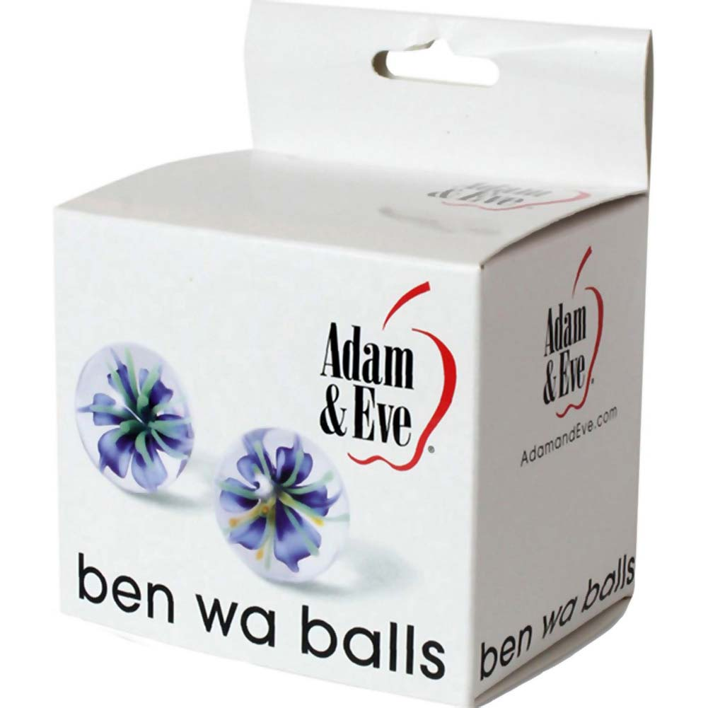 Adam and Eve Glass Ben Wa Balls Clear - View #3