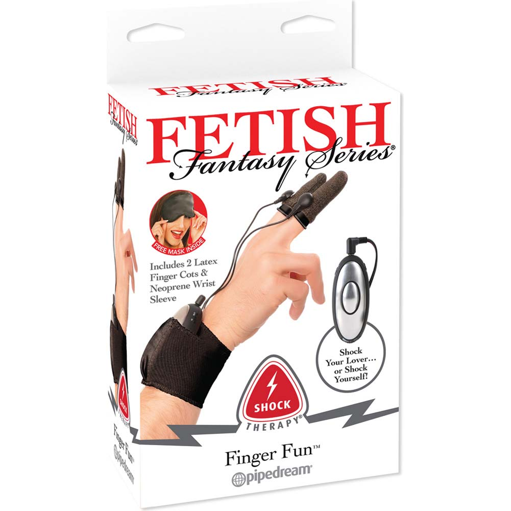 Fetish Fantasy Series Shock Therapy Finger Fun Black - View #1