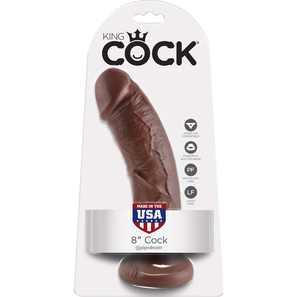 "King Cock 8"" Cock Brown - View #4"