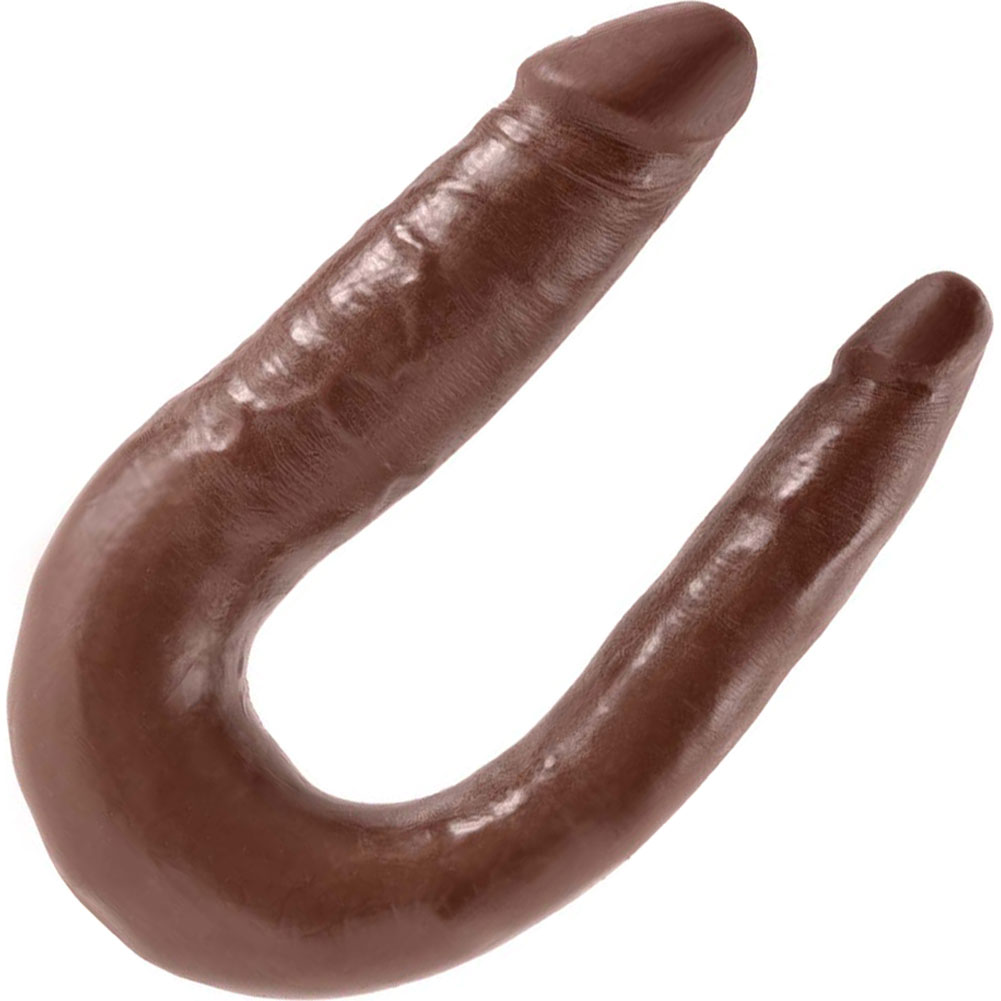 King Cock U-Shaped Small Double Trouble Dildo Brown - View #2