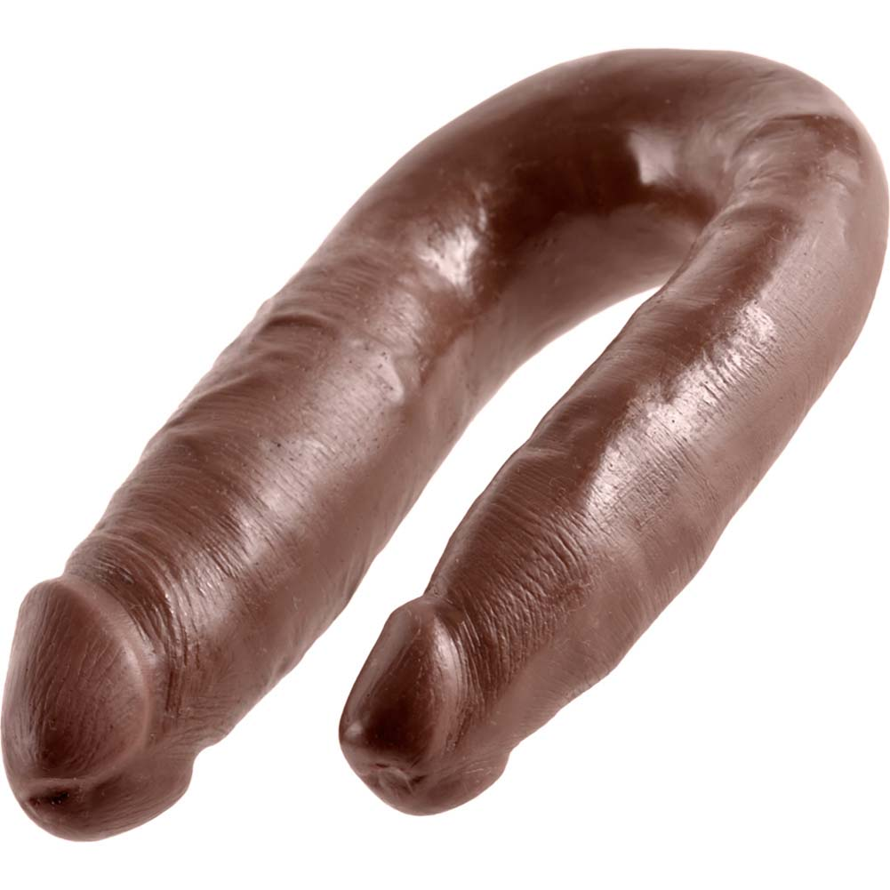 King Cock U-Shaped Small Double Trouble Dildo Brown - View #4