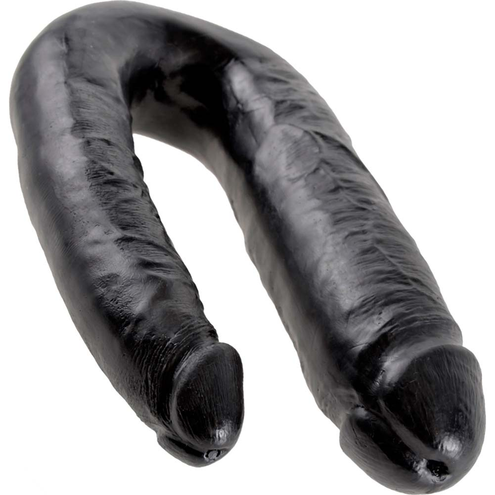King Cock U-Shaped Large Double Trouble Dildo Black - View #3