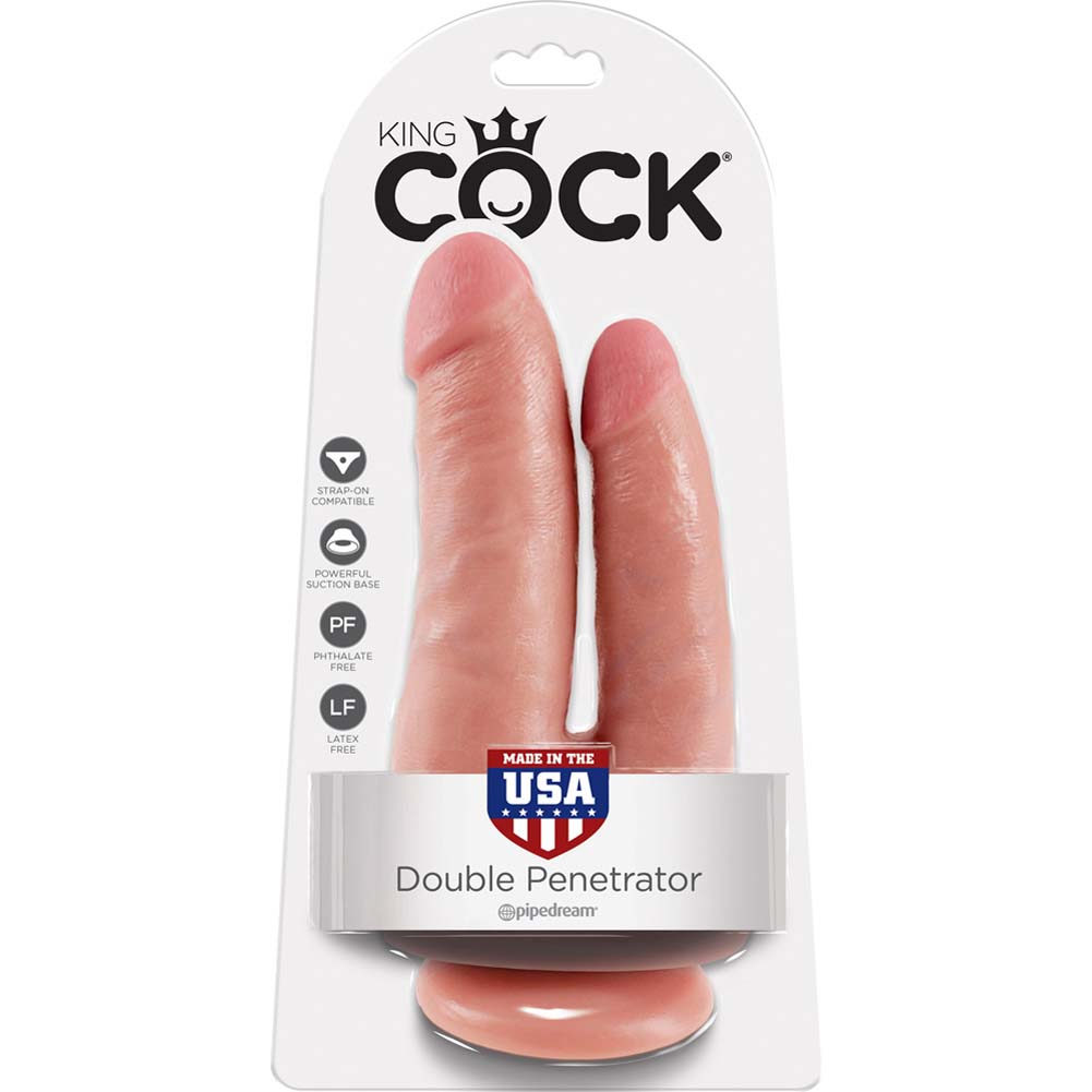 King Cock Double Penetrator Dildo Flesh - View #4