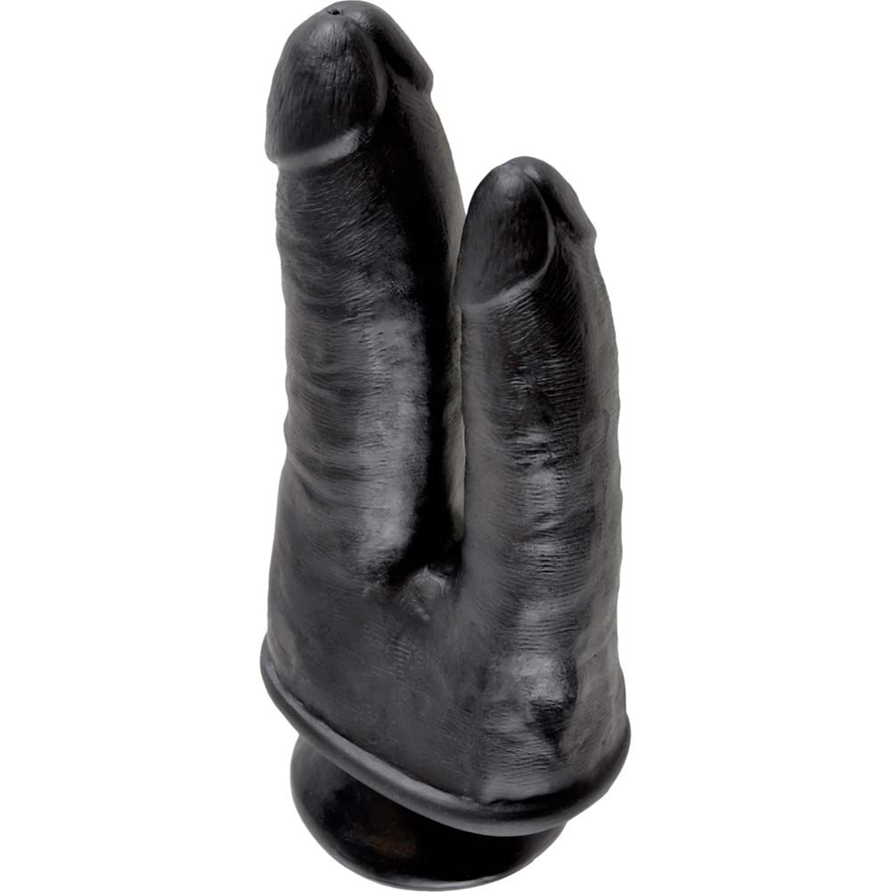 "King Cock Double Penetrator Dildo with Suction Mount Base 8"" Black - View #3"
