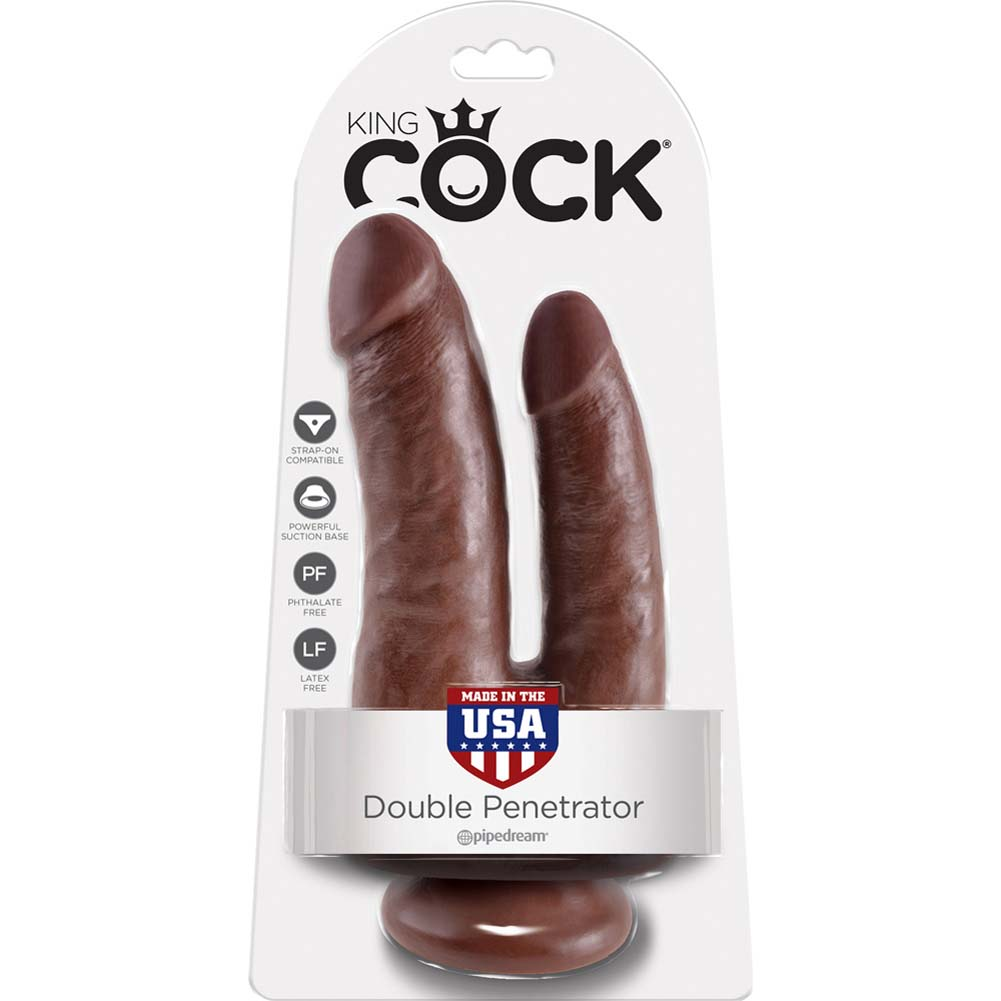 King Cock Double Penetrator Dildo Brown - View #4