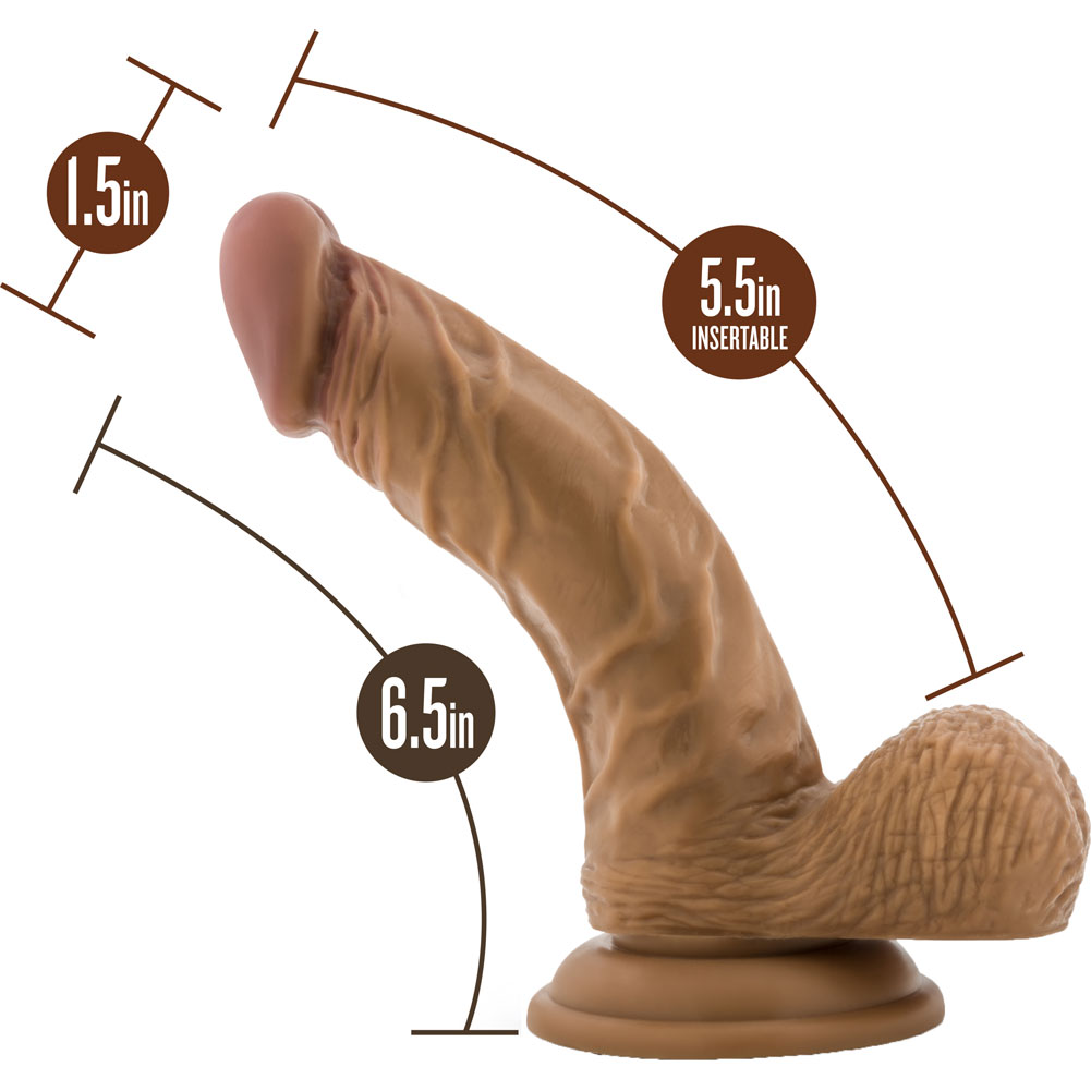 "Blush Loverboy Papito Dildo 6.5"" Brown - View #1"